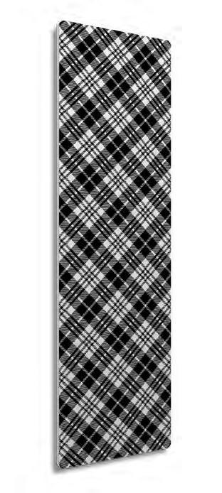 Полотенцесушитель со стеклянной лицевой панелью Модель «Тартан» 1120-250-42