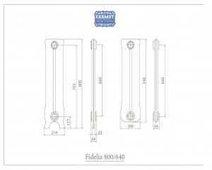 Чугунный дизайн радиатор Fidelia