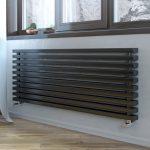 Трубчатый дизайн радиатор LOTEN GREY Z H 180 4 секции L 1000