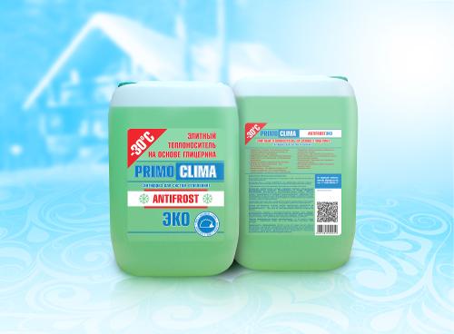 Теплоноситель Primoclima Antifrost (Глицерин) -30C ECO 10 кг канистра (цвет зеленый)